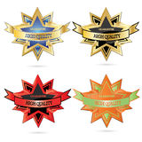 Vector High Quality Emblem. Vector modern High Quality Emblem Royalty Free Stock Images