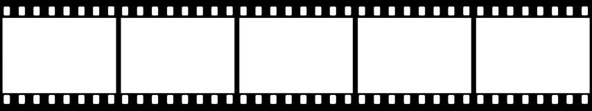 Film strip vector. Vector high quality illustration of a black film strip isolated on white background. Editable vector file available Royalty Free Stock Image