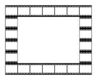 Film strip frame. Vector high quality illustration of a frame made with black film strip frames  on white background Royalty Free Stock Image