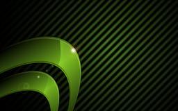 Vector High-Techen Konzepthintergrund des abstrakten grünen metallischen grafischen Rahmens Lizenzfreies Stockfoto