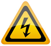 Vector high voltage sign stock illustration