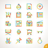 Vector Highlighter Line Icons Set 6 Stock Image