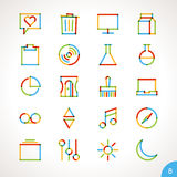 Vector Highlighter Line Icons Set 8 Stock Photography