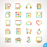 Vector Highlighter Line Icons Set 10 Stock Photos