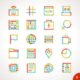 Vector Highlighter Line Icons Set 9 Stock Photos