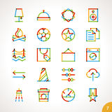 Vector Highlighter Line Icons Set 7 Stock Images