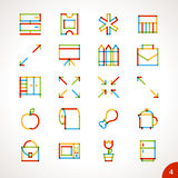 Vector Highlighter Line Icons Set 4 Royalty Free Stock Photography