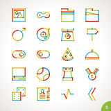 Vector Highlighter Line Icons Set 5 Royalty Free Stock Photography