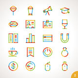 Vector Highlighter Line Icons Set 2 Royalty Free Stock Photography