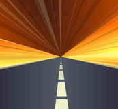 Vector highway. Royalty Free Stock Photo