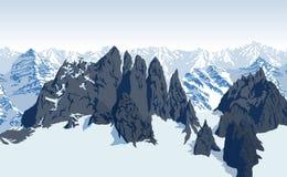 Vector Himalaya alps mountains background Stock Photos
