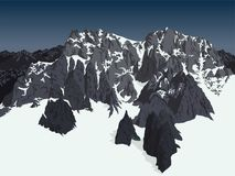 Vector Himalaya alps mountains background Royalty Free Stock Image