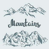 Vector Himalayan peaks. mountain landscape. Stock Photos