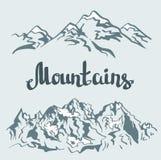 Vector Himalayan peaks. mountain landscape. Stock Photos