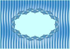 Vector Hintergrund mit einem Rahmen in der orientalischen Art Stockbild