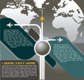 Vector Hintergrund mit Flugzeugen Stockbild