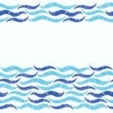 Vector Hintergrund mit Wellen und Raum für Text Stockfoto