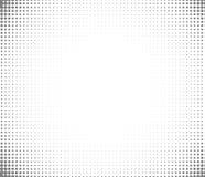 Vector Hintergrund von Punkten in den Ecken des Bildes Schwarze digitale Vignette in der Karikaturart für Comics vektor abbildung