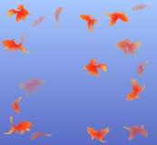 Vector Hintergrundozean mit Goldfischen mit Raum für Text Stockfoto