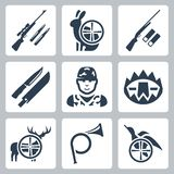 Vector hinting icons set Royalty Free Stock Images