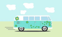 Vector hippie van Stock Images