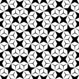 Vector hipster abstract geometry pattern, black and white seamless geometric background, subtle pillow and bad sheet print Stock Images