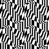 Vector hipster abstract geometry pattern, black and white seamless geometric background, subtle pillow and bad sheet print Stock Photos