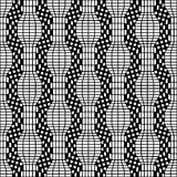 Vector hipster abstract geometry pattern, black and white seamless geometric background, subtle pillow and bad sheet print, Stock Photos