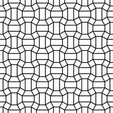Vector hipster abstract geometry pattern, black and white seamless geometric background Stock Photography