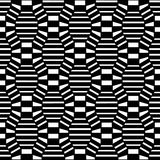 Vector hipster abstract geometry pattern 3d, black and white seamless geometric background, subtle pillow and bad sheet print Royalty Free Stock Photography