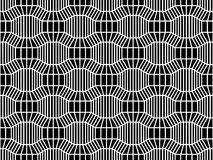 Vector hipster abstract geometry pattern 3d, black and white seamless geometric background, subtle pillow and bad sheet print. Creative art deco, simple Stock Photography