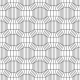 Vector hipster abstract geometry pattern 3d, black and white seamless geometric background. Subtle pillow and bad sheet print, creative art deco, simple Royalty Free Stock Images