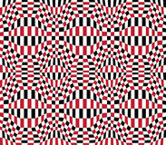 Vector hipster abstract geometry pattern 3d,color red seamless geometry background Stock Images