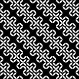 Vector hipster abstract geometry pattern flower,black and white seamless geometry background Royalty Free Stock Photo