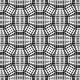 Vector hipster abstract geometry pattern mesh, black and white seamless geometric background, subtle pillow and bad sheet print Stock Images