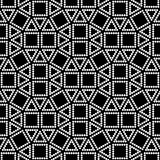 Vector hipster abstract geometry pattern square, black and white seamless geometric background, subtle pillow and bad sheet print Stock Image
