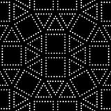Vector hipster abstract geometry pattern square, black and white seamless geometric background, subtle pillow and bad sheet print Royalty Free Stock Images