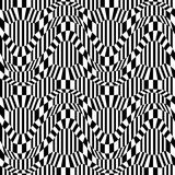 Vector hipster abstract geometry trippy pattern with 3d illusion, black and white seamless geometric background Stock Photos