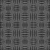 Vector hipster abstract geometry trippy pattern with 3d illusion, black and white seamless geometric background. Subtle pillow and bad sheet print, creative Stock Image