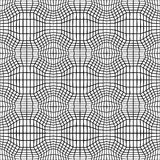 Vector hipster abstract geometry trippy pattern with 3d illusion, black and white seamless geometric background Royalty Free Stock Photo