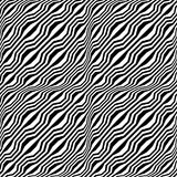 Vector hipster abstract geometry trippy pattern with stripes , black and white seamless geometric background. Subtle pillow and bad sheet print, creative art Royalty Free Stock Images