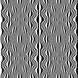 Vector hipster abstract geometry trippy pattern with stripes , black and white seamless geometric background Stock Photo
