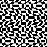 Vector hipster abstract psychadelic geometry trippy pattern with 3d illusion, black and white seamless geometric background Royalty Free Stock Image