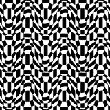 Vector hipster abstract psychadelic geometry trippy pattern with 3d illusion, black and white seamless geometric background Stock Photos