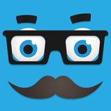 Vector Hipster Avatar with Geek Glasses And Royalty Free Stock Images