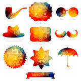 Vector Hipster background made of geometric pattern. Retro label Stock Photography