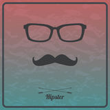 Vector hipster background with mustaches and glasses. Vector abstract hipster background with mustaches and glasses Stock Images