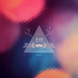 Vector hipster background. Retro label design. Infographics comp Stock Photo
