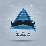 Vector hipster background with triangle and mustaches. Vector abstract hipster background with triangle and mustaches Stock Images