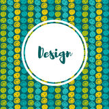 Vector  hipster backgrounds in blues and greens. Hand drawn style Royalty Free Stock Photo